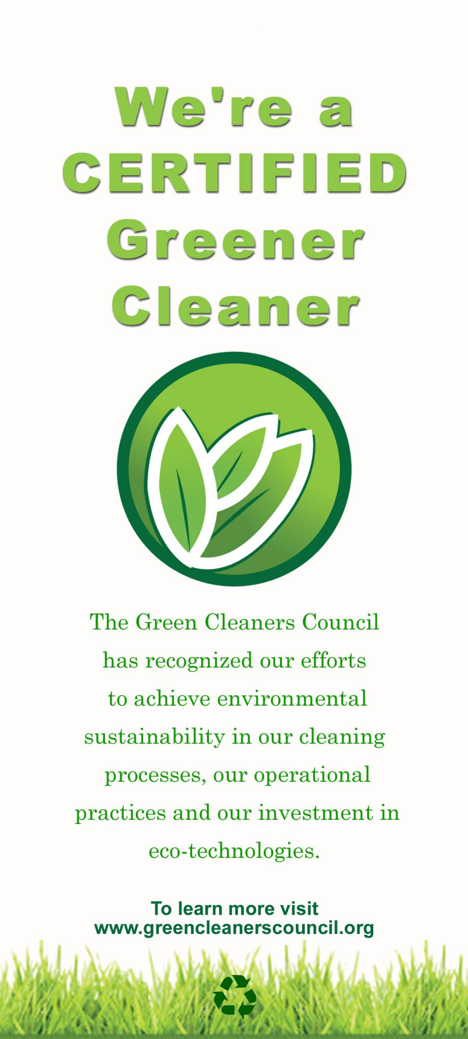 Certified Green Dry Cleaner